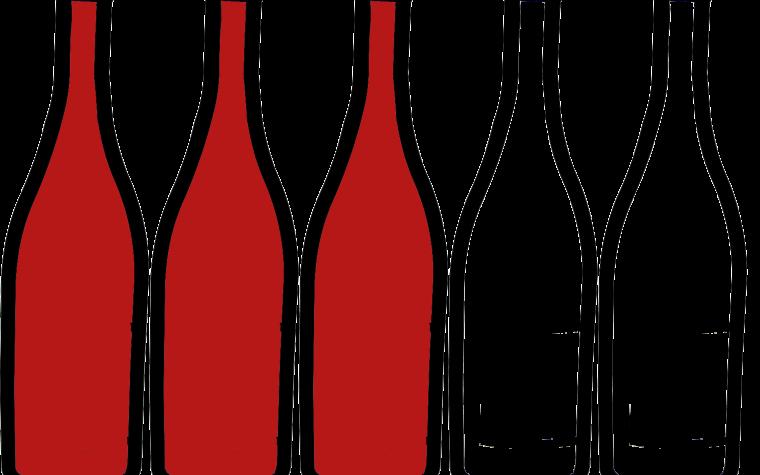 three bottles full